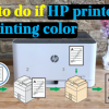 What to do if HP printer is not printing color